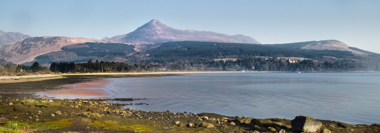 Views across Brodick Bay